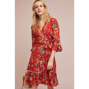 Anthropologie Farm Rio Kenzie Wrap Dress